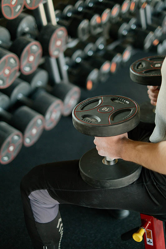 Gym equipment available at Peak Performance Gym